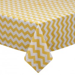 Tablecloth Chevron Square 36 Inch Turquoise By Broward Linens
