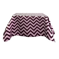 Tablecloth Chevron Square 30 Inch Black By Broward Linens