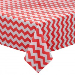 Tablecloth Chevron Square 24 Inch Purple By Broward Linens
