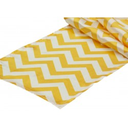 Runner Chevron Polyester 12 X 72 Inch Turquoise By Broward Linens