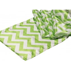 Tablecloth Chevron Square 24 Inch Apple Green By Broward Linens