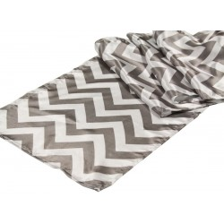 Runner Chevron Polyester 13 X 108 Inch Burgundy By Broward Linens