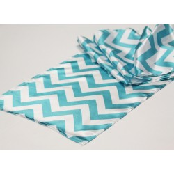 Runner Chevron Polyester 14 X 108 Inch Royal Blue By Broward Linens
