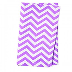 Napkins Chevron 15 X 15 Inch (6 Units) Orange By Broward Linens