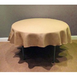 Tablecloth Burlap Natural Round 72 Inch By Broward Linens