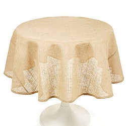 Tablecloth Burlap Natural Round 45 Inch By Broward Linens