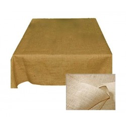 Tablecloth Burlap Natural Round 30 Inch By Broward Linens
