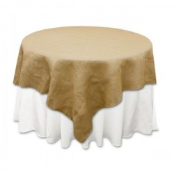 Tablecloth Burlap Natural Square 58 Inch By Broward Linens