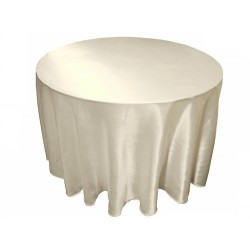 Tablecloth Satin Round 90 Inch Gold By Broward Linens