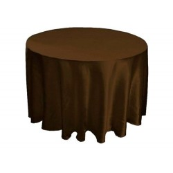 Tablecloth Satin Round 108 Inch Black By Broward Linens
