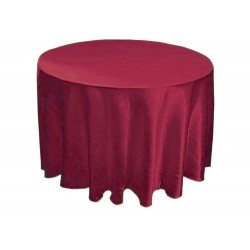 Tablecloth Satin Round 108 Inch Brown By Broward Linens