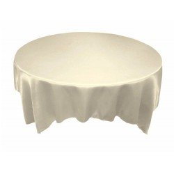 Tablecloth Satin Round 60 Inch Champagne By Broward Linens