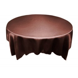 Tablecloth Satin Round 54 Inch Black By Broward Linens