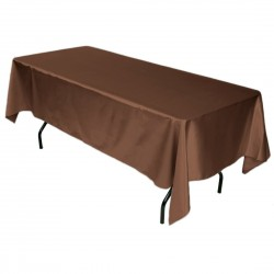 Tablecloth Satin Rectangular 54x72 Inch Black By Broward Linens
