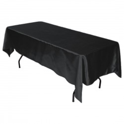 Tablecloth Satin Rectangular 60x90 Inch Black By Broward Linens