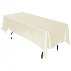 Tablecloth Satin Rectangular 60x120 Inch Hot Pink By Broward Linens