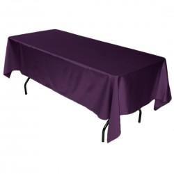 Tablecloth Satin Rectangular 60x120 Inch Orange By Broward Linens