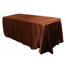 Tablecloth Satin Rectangular 90x156 Inch Black By Broward Linens