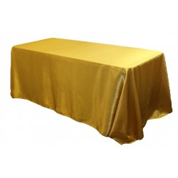 Tablecloth Satin Rectangular 90x156 Inch Burgundy By Broward Linens