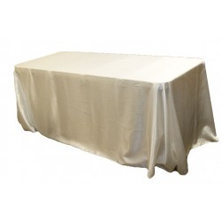 Tablecloth Satin Rectangular 90x156 Inch Hot Pink By Broward Linens