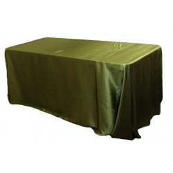 Tablecloth Satin Rectangular 90x156 Inch Ivory By Broward Linens