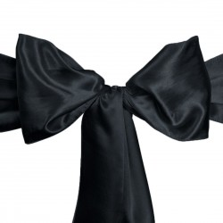 Napkins Satin 20 X 20 Inch Black (6 Units) By Broward Linens
