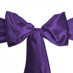 Sashes Satin 6 X 104 Inch (6 Units) Plum By Broward Linens