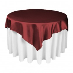 Satin Overlay 72 Inch Brown By Broward Linens