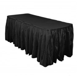 Satin Overlay 58 Inch Black By Broward Linens