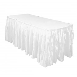 Table Skirt 17' Satin Black By Broward Linens