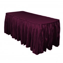 Table Skirt 17' Satin Brown By Broward Linens