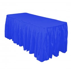 Table Skirt 17' Satin Red By Broward Linens