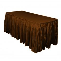Table Skirt 14' Satin White By Broward Linens