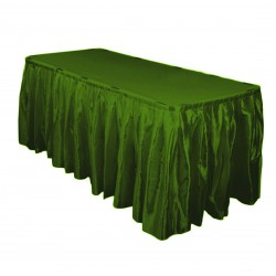 Table Skirt 14' Satin Burgundy By Broward Linens