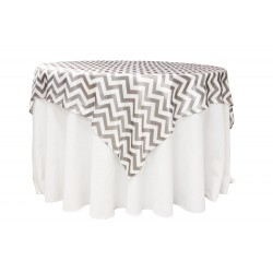 Overlay Chevron Square 72 Inch Gold By Broward Linens