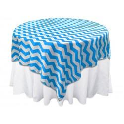 Overlay Chevron Square 72 Inch Royal Blue By Broward Linens