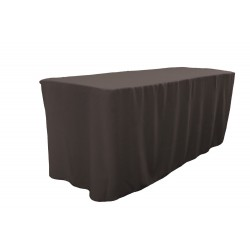 Tablecloth Polyester Poplin Fitted Charcoal, for 4-foot Table By Broward Linens