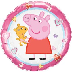 By Broward Balloons Peppa's Pig Teddy 18 Inch Balloons (Qty 2)