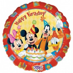 By Broward Balloons Mickey Friends Happy Birthday 18 Inch Balloons (Qty 2)