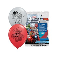 "By Broward Balloons 12"" Avengers Assemble Latex Balloons Multicolor"