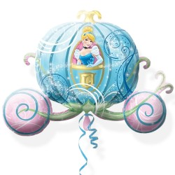 By Broward Balloons Disney Cinderella Carriage Super Shape (New Design) 33 Inch Balloon