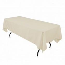 "Tablecloth Restaurant Line Rectangular 60x144"" Beige By Broward Linens"