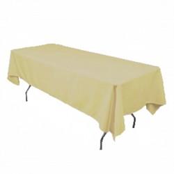"Tablecloth Rectangular 60x144"" Cranberry By Broward Linens"