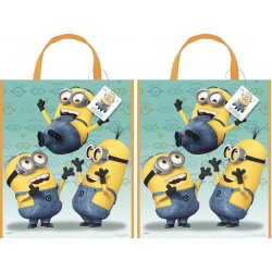 By Broward Toys Minion Despicable Me Reusable Party Tote Bag set (Qty 2)