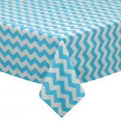 Tablecloth Chevron Square 36 Inch Royal Blue By Broward Linens