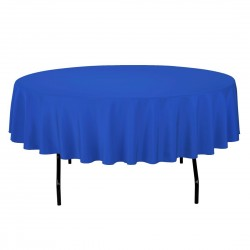 Tablecloth Polyester Round Seamless (One Piece) 64 Inch Royal Blue By Broward Linens
