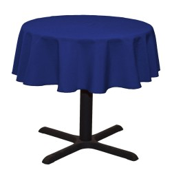 Tablecloth Polyester Round Seamless (One Piece) 64 Inch Navy Blue By Broward Linen s