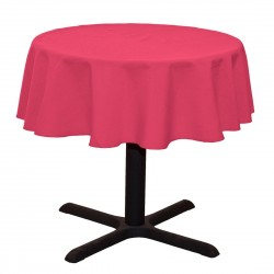 Tablecloth Polyester Round Seamless (One Piece) 64 Inch Pink By Broward Linens