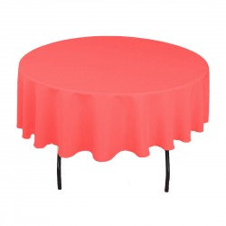 Tablecloth Polyester Round Seamless (One Piece) 72 Inch Fuchsia By Broward Linens