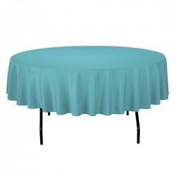 Tablecloth Polyester Round Seamless (One Piece) 72 Inch Coral By Broward Linens